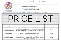 Price list download